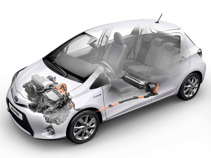 Toyota Yaris Hybrid. Bateria