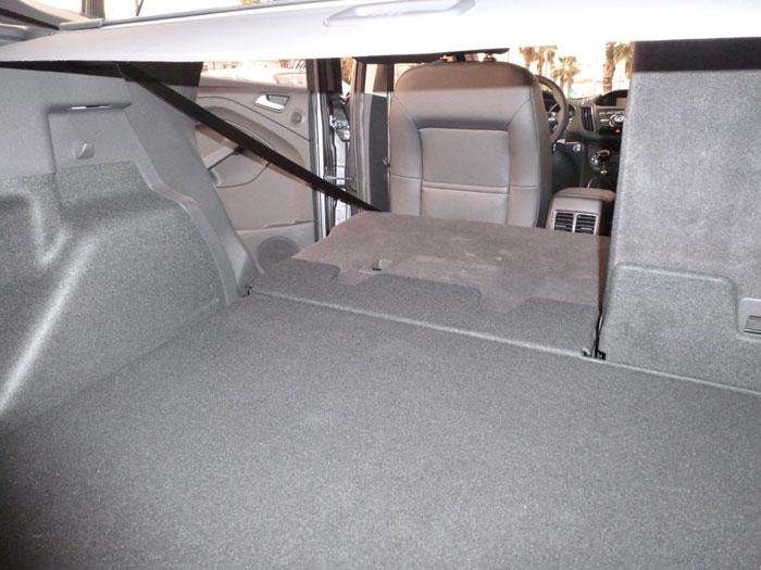 Ford Kuga. Espacio maletero