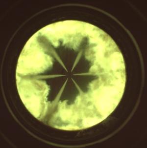 Combustión. Inyección directa. Pistón transparente. CMT-Motores Térmicos. UPV. Valencia