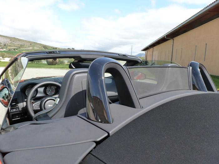 Jaguar F-Type 2013. Deflector de viento