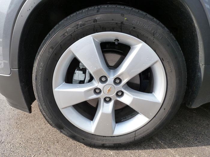 Chevrolet Trax 2013. Llanta de aleración 18 pulgadas