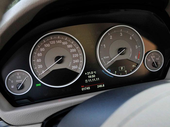 BMW 320d EfficientDynamics automático. Cuadro de instrumentación