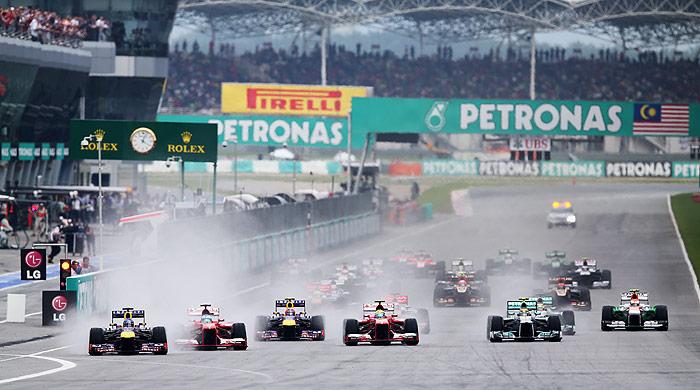 Fórmula 1. Malasia 2013. Parrilla de salida