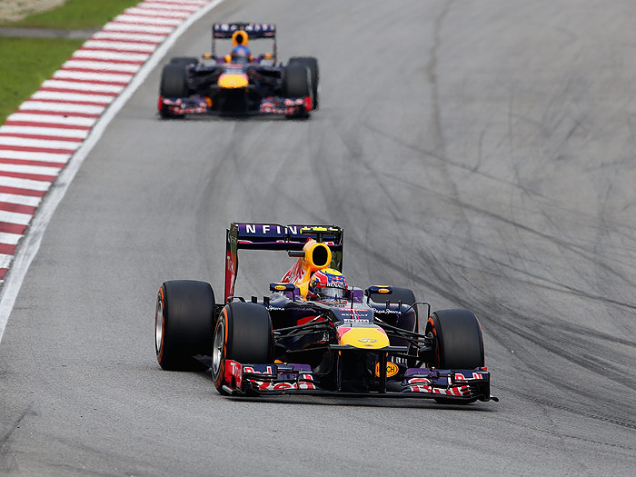 Fórmula 1. Malasia 2013. Vettel y Webber