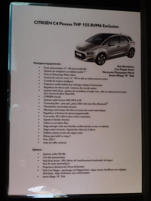 Citroën C4 Picasso. 2013. Equipamiento Exclusive
