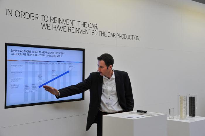 BMW i3. BMW tiene más de 10 años de experiencia en la producción de fibra de carbono