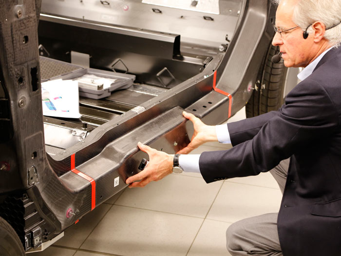BMW i3. Estructura fibra de carbono