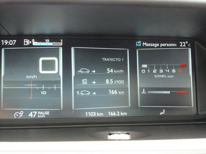 Citroën C4 Picasso THP 155 Exclusive. 2013. Pantalla instrumentación