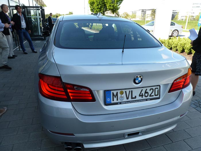 BMW Serie 5. Posterior, pilotos