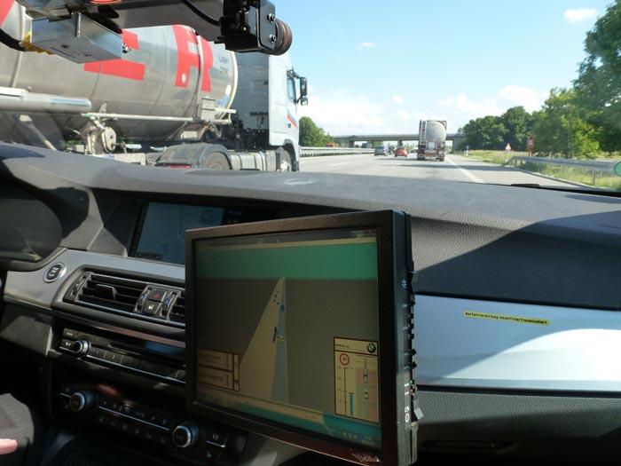 Información exacta del trazado por autopista