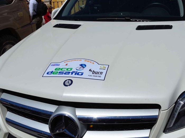 Eco Desafío 2013. Mercedes-Benz GL 350. Pegatina