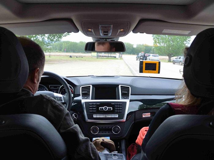 Eco Desafío 2013.Interior del Mercedes-Benz GL 350
