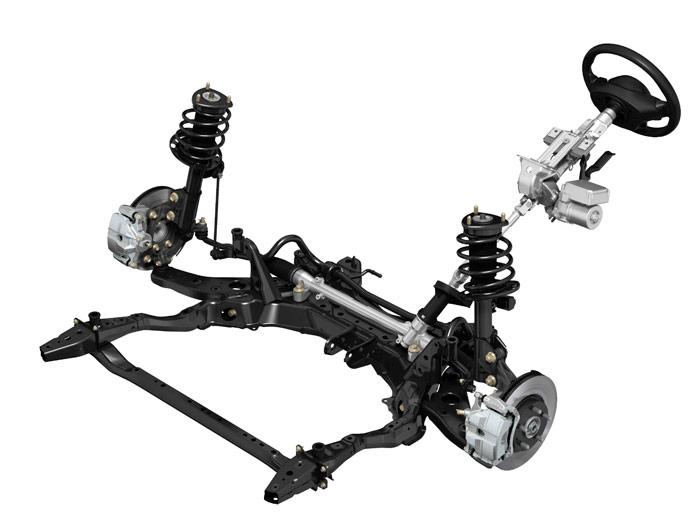 Mazda5. Dirección y suspensión
