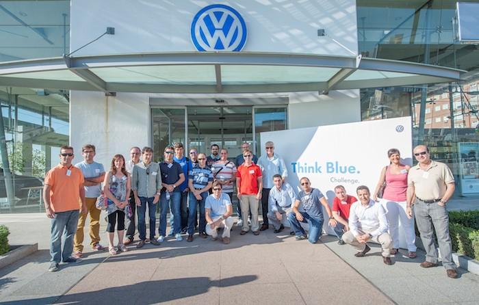 Participantes y organizadores. Think Blue Challenge 2013. Spain.