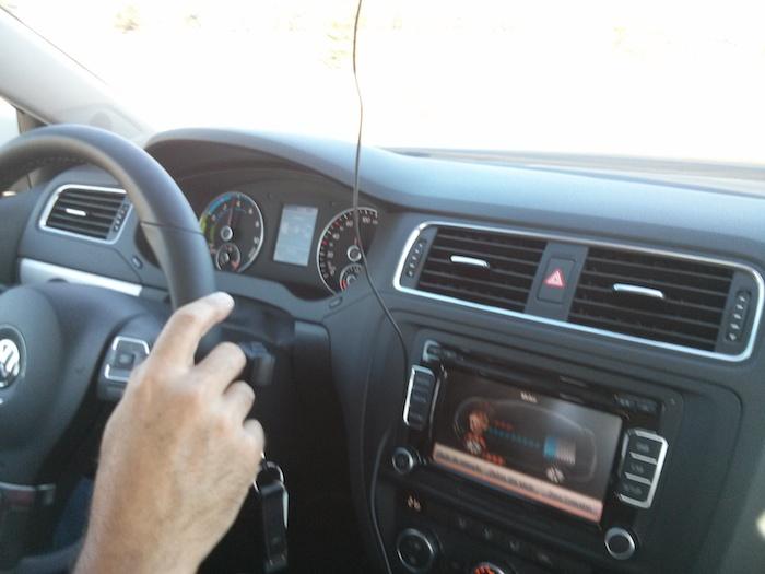Volkwagen Jetta Hybrid. Salpicadero. Think Blue. Challenge 2013. Spain.