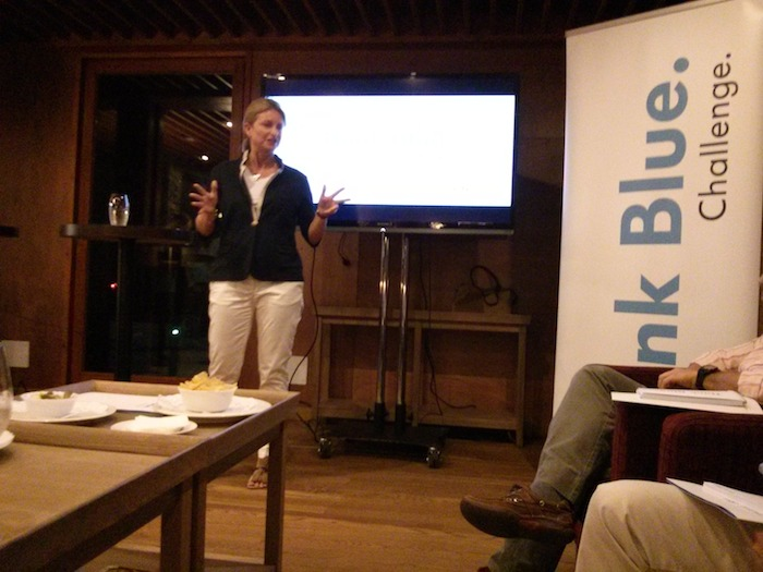 Laura Ros. Directora de marketing de Volkswagen. Bosque. Think Blue. Challenge 2013.