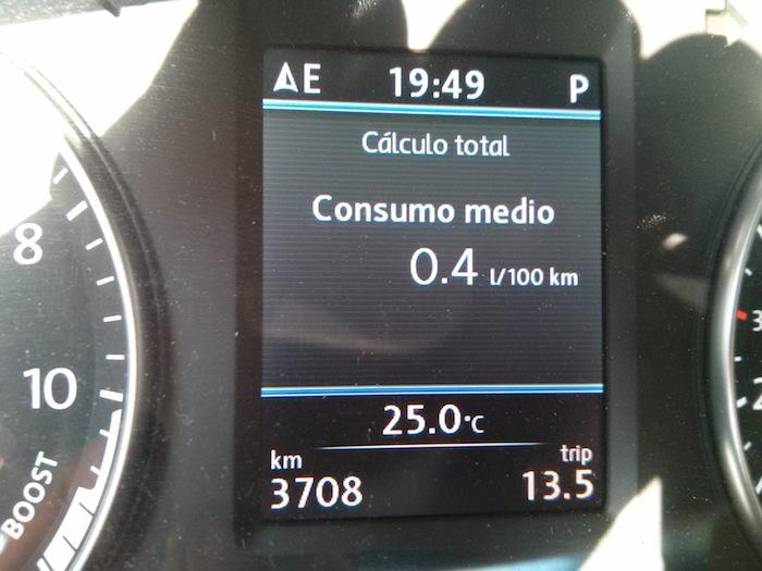 Consumo medio al final del tramo 3. Think Blue. Challenge 2013. Spain.
