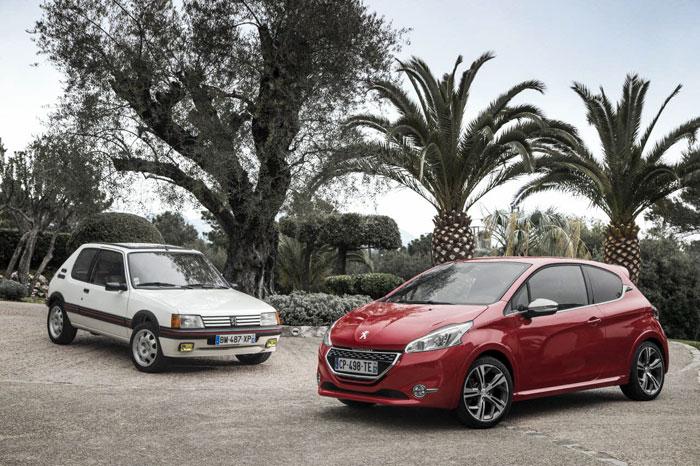 Peugeot 208 y Peugeot 205 GTI