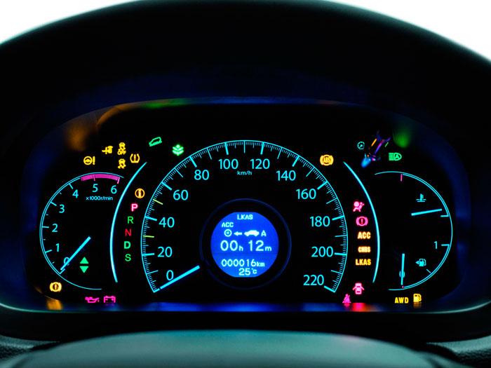 Honda CR-V. Prueba de consumo. Cuadro de instrumentación