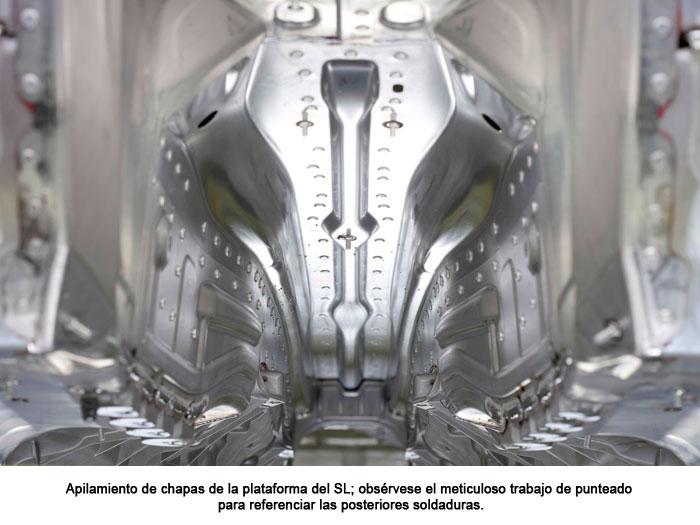 Apilamiento de chapas de la plataforma del SL