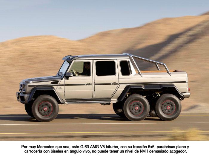 Por muy Mercedes que sea, este G-63 AMG V8 biturbo, con su tracción 6x6