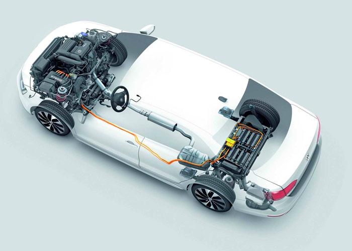 Volkswagen Jetta Hybrid. Batería.
