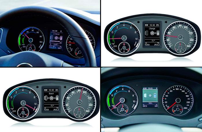Volkswagen Jetta Hybrid. Cuadro de instrumentación