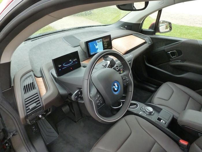 BMW i3.  Salpicadero vista superior
