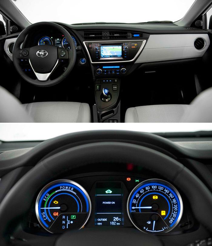 Toyota Auris HSD híbrido. Prueba de consumo. Interior