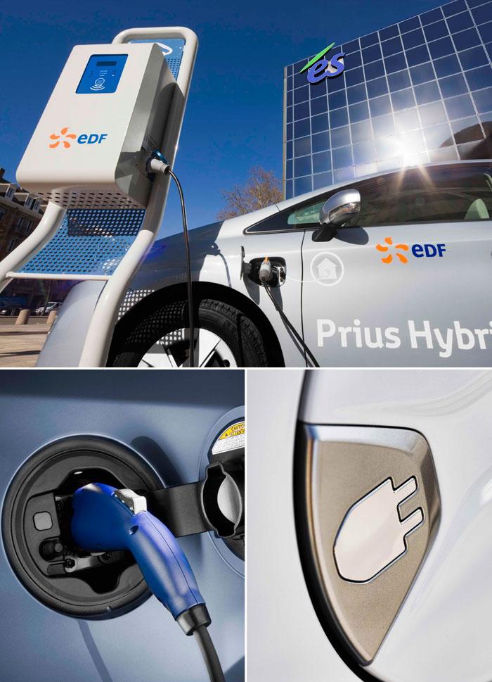Toyota Prius III Plug-in. Enchufe