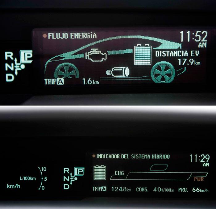 Toyota Prius III Plug-in. Pantallas de configuración