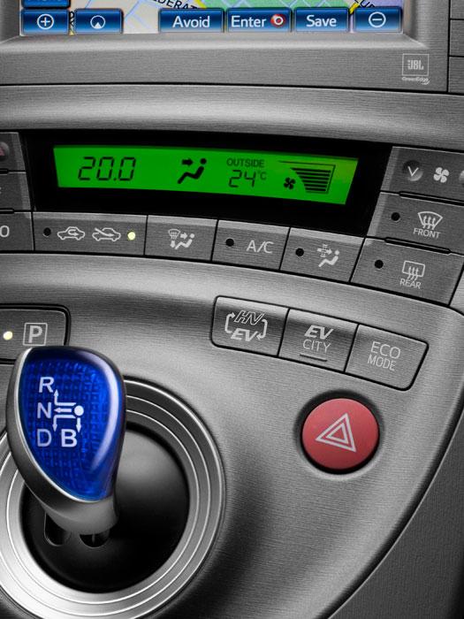 Toyota Prius III Plug-in. Palanca cambios