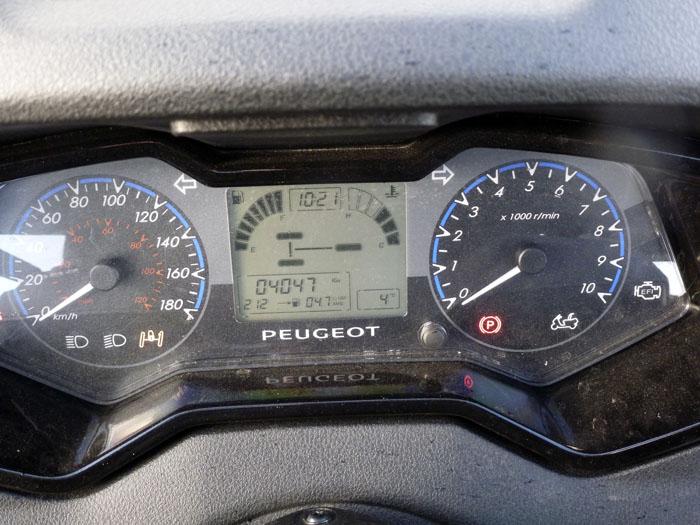 Peugeot Metropolis. Instrumentacion