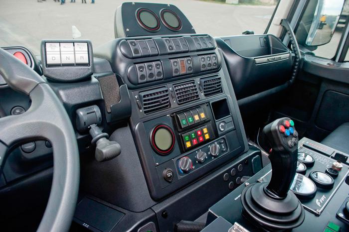Puesto de conducción y control del Impact