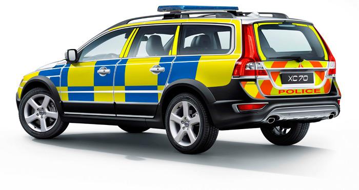 Volvo. Coche de Policia