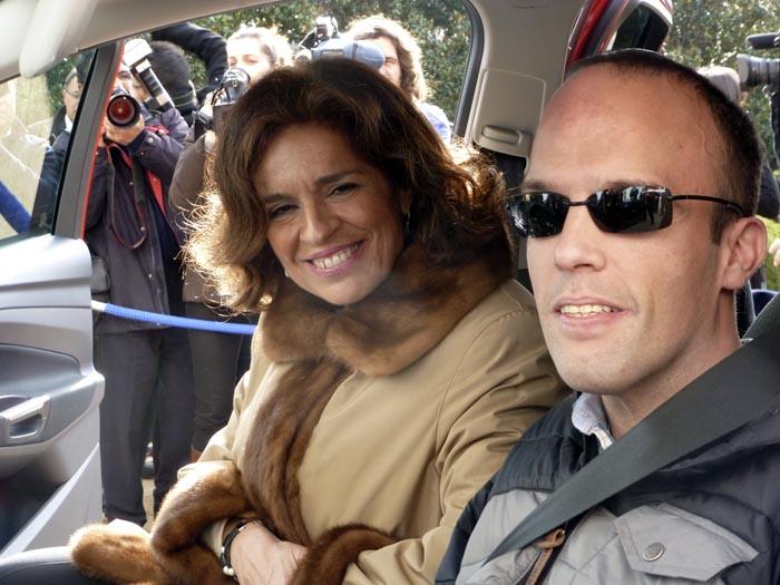 David Rivas y Ana Botella en el coche de David Rivas