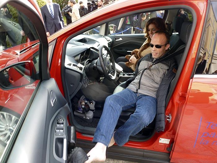 David Rivas en su Ford C-Max