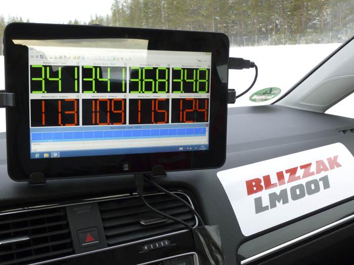 Bridgestone Blizzak  LM 001. Tracción y frenada.