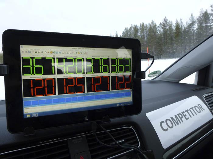Continental ContiWinterContact TS 850. Tracción y frenada.