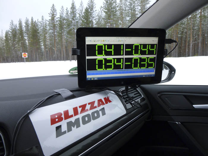 Bridgestone Blizzak LM001. Aceleración lateral
