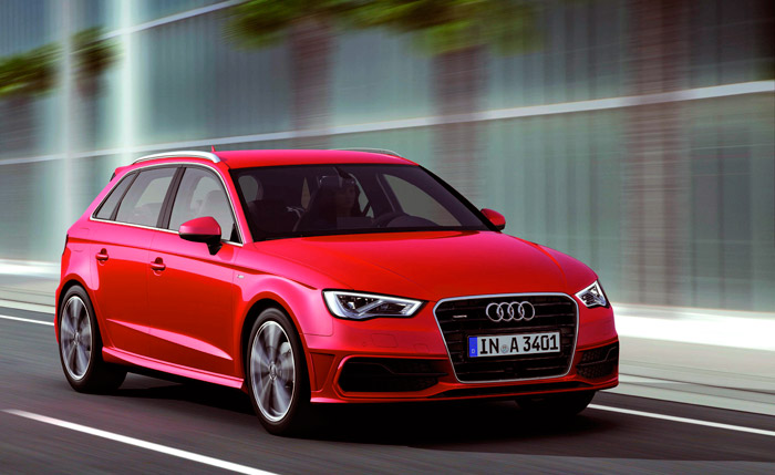 Característico de los Audi desde hace varias generaciones: sin referencia de tamaño, es difícil distinguir si se trata de un A-3, 4 o 6.