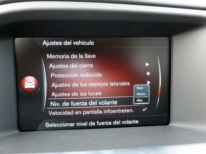 Volvo V60. Dirección