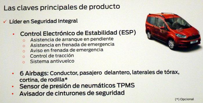 Ford tourneo Courier 2014. Rueda de prensa. Control estabilidad (ESP)