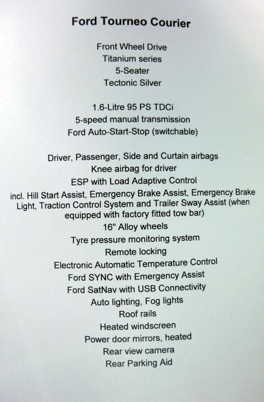 Ford tourneo Courier 2014. Rueda de prensa. Motor 1.6 TDCi