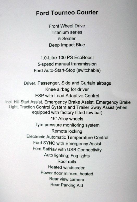 Ford tourneo Courier 2014. Rueda de prensa. Motor 1.0 EcoBoost