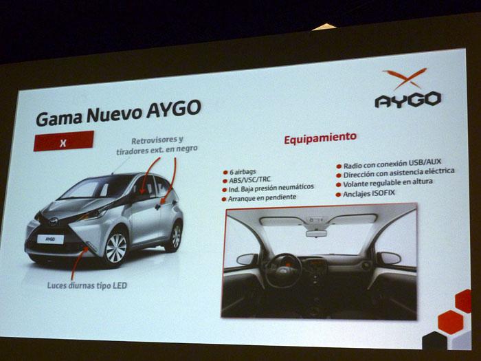 Toyota Aygo (2015). Presentación Holanda. Equipamiento x