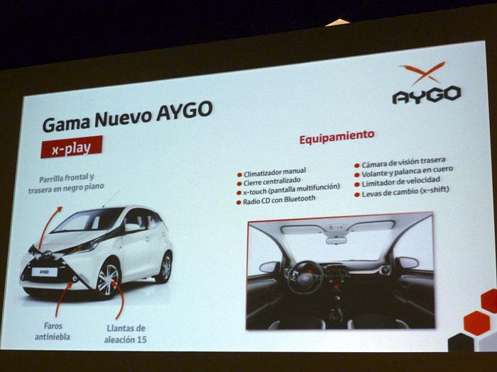 Toyota Aygo (2015) Presentación. Equipamiento x-play