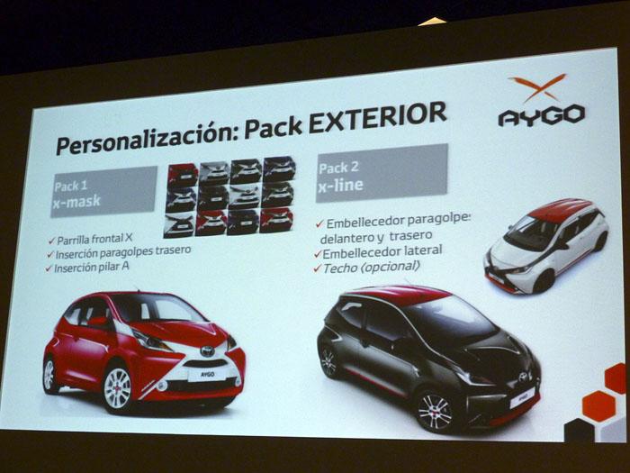 Toyota Aygo (2015) Presentación. Pack exterior x-mask y x-line