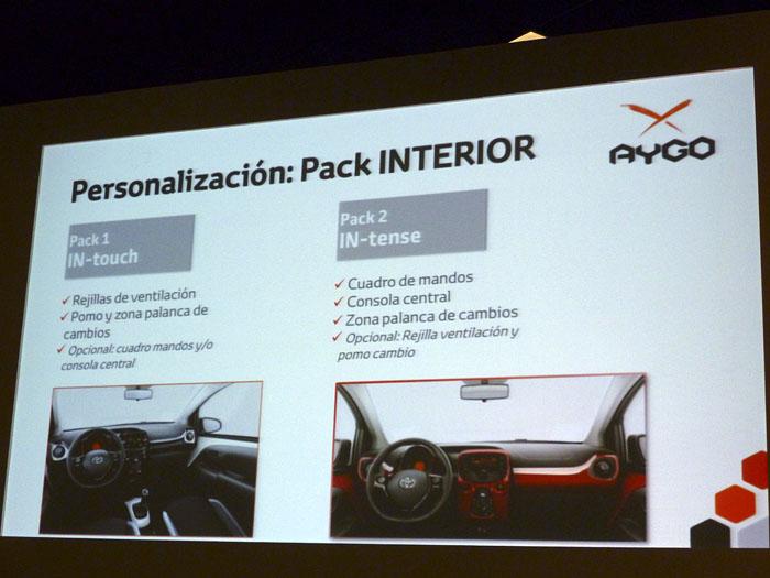 Toyota Aygo (2015) Presentación. Pack interior IN-touch e IN-tense