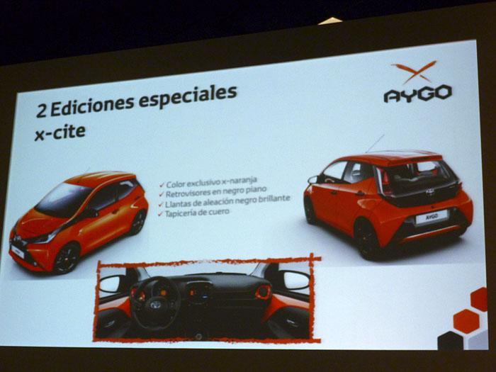 Toyota Aygo (2015) Presentación. Edición especial x-cite